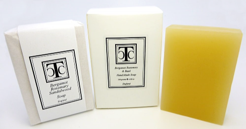 Hand Made Soap Bergamot Rosemary & Sandalwood 100 gram
